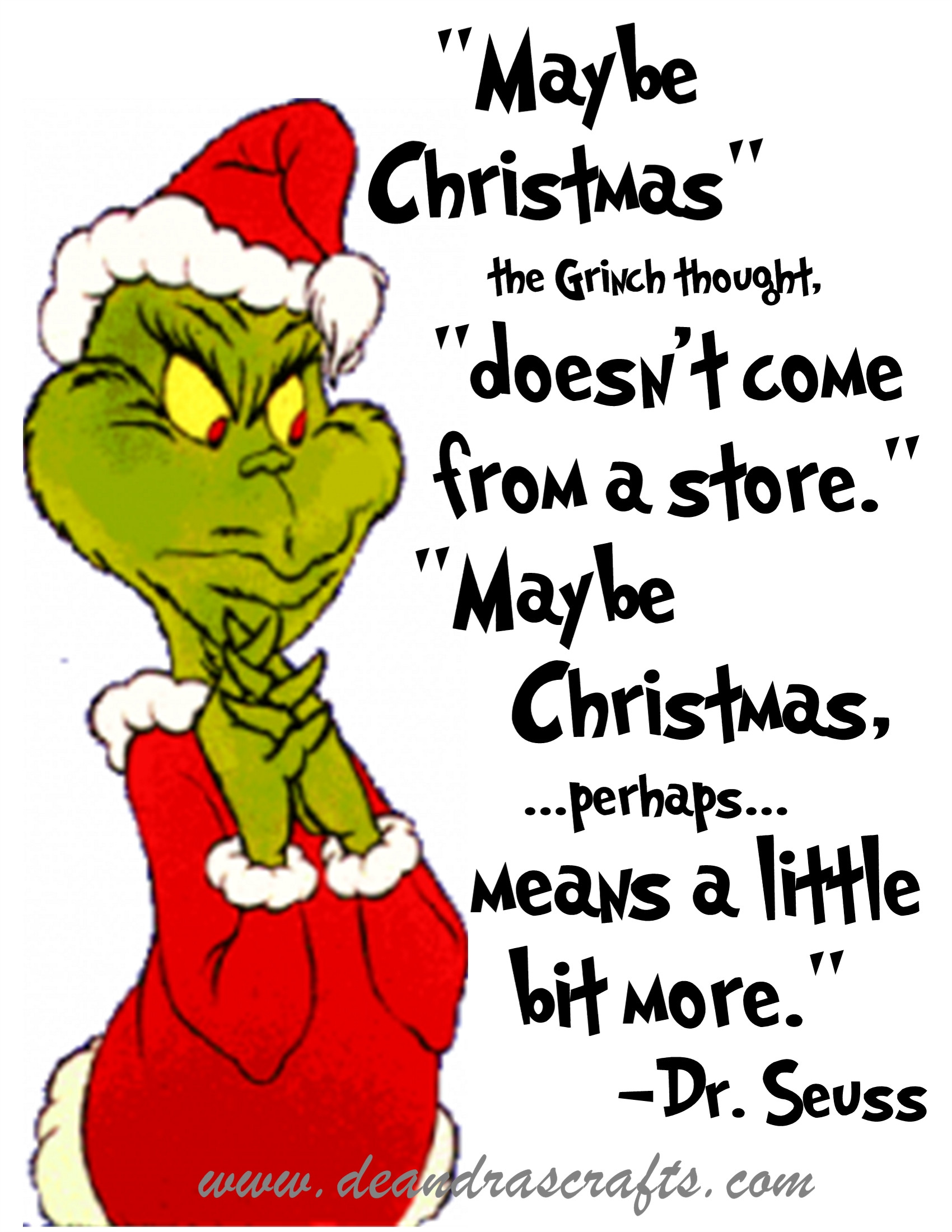 Grinch Christmas Quote  How The Grinch Stole Christmas Book Quotes QuotesGram