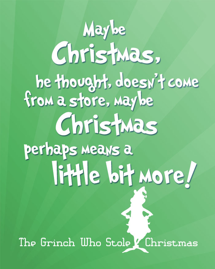 Grinch Christmas Quote  Free Christmas Printables with Favorite Movie Quotes DIY