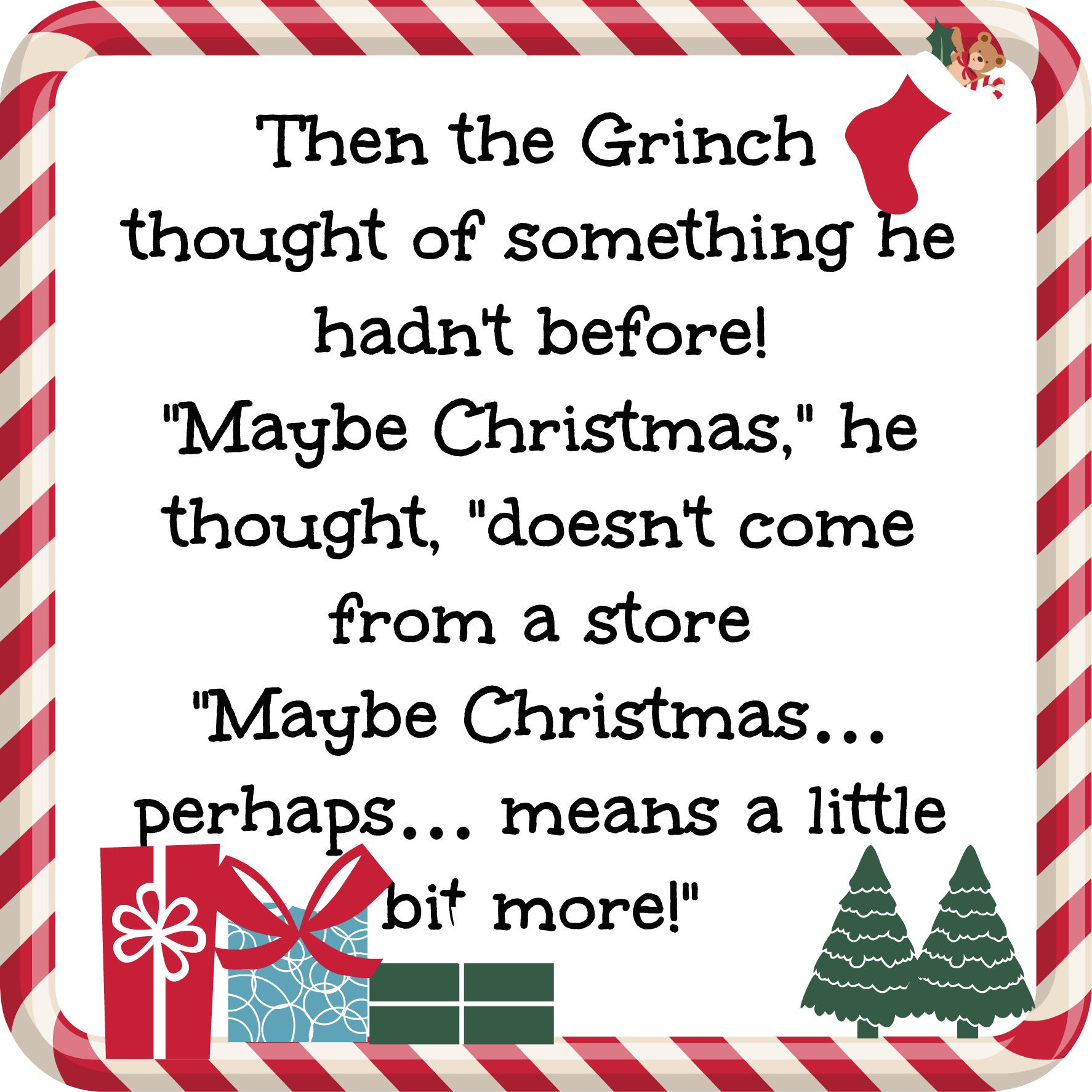 Grinch Christmas Quote  Making a Case for the Grinch