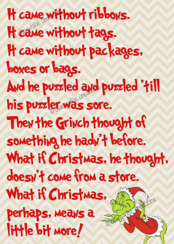 Grinch Christmas Quote  Best 25 The grinch quotes ideas on Pinterest