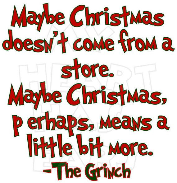 Grinch Christmas Quote  Printable DIY How the grinch stole Christmas by