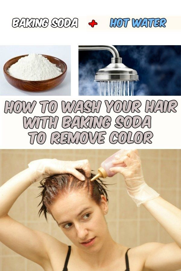 Hair Color Remover DIY  To remove Your hair and Baking soda on Pinterest