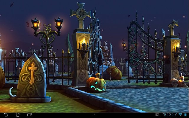 Halloween 3D Wallpaper  Halloween Cemetery 3D LWP Android Forums at