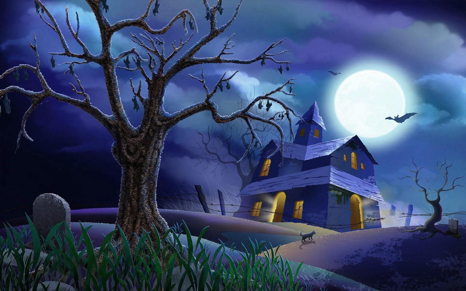 Halloween 3D Wallpaper  3D Animated Halloween Desktop Wallpaper WallpaperSafari
