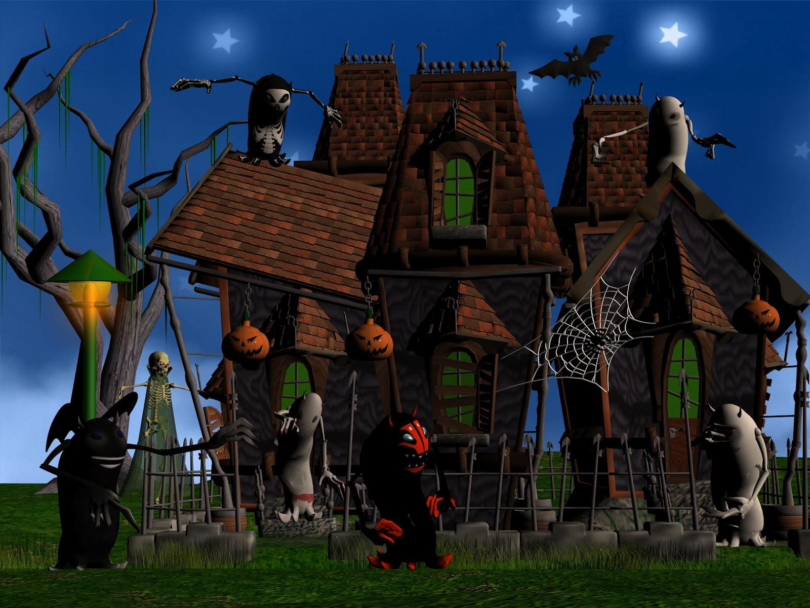 Halloween 3D Wallpaper  3D Halloween puter Wallpaper WallpaperSafari