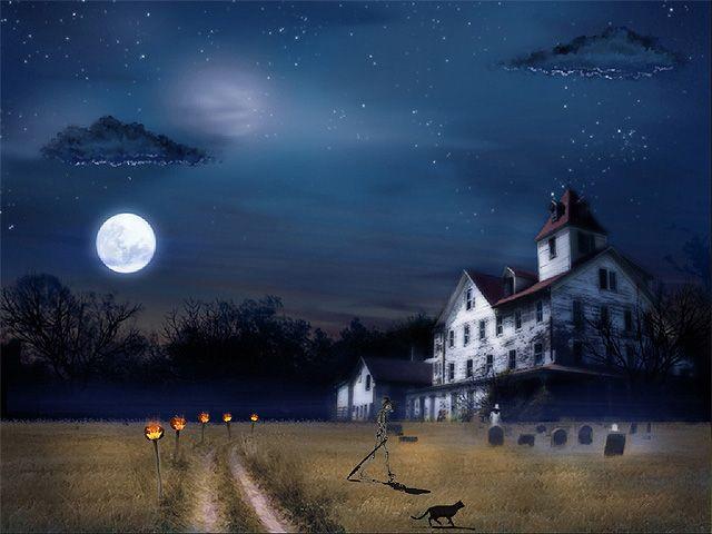 Halloween 3D Wallpaper  Halloween Tree is a very spooky and very ambient desktop
