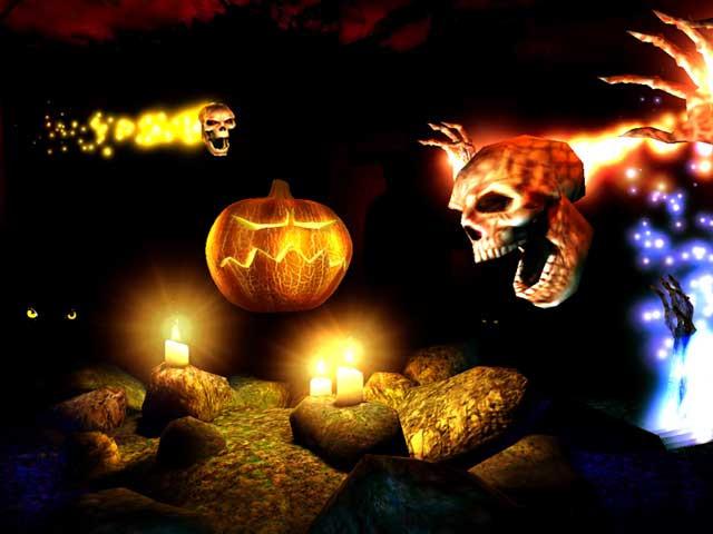 Halloween 3D Wallpaper  Holidays 3D Screensavers Halloween Cool spooky