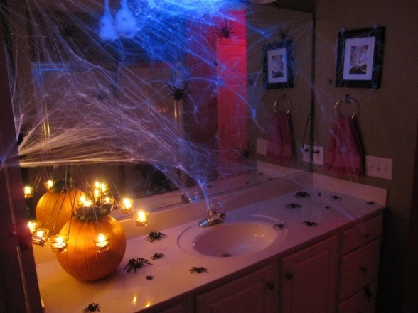 Halloween Bathroom Decor  1000 images about Haunting Spider Nest Decorations on