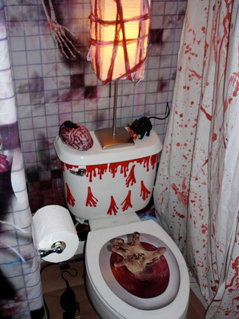 Halloween Bathroom Decor  Halloween Decorations Bathroom to Scare Away Your Guests