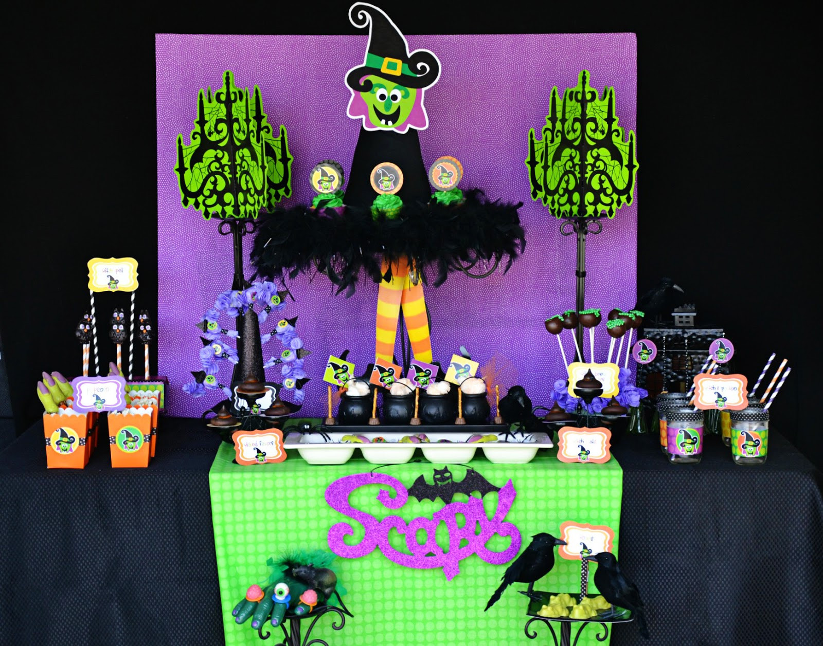 "Halloween Bday Party Ideas  Amanda s Parties To Go Halloween ""Witch Is In"" Party"