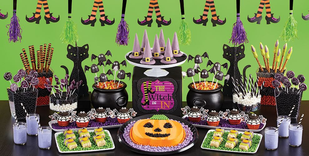 Halloween Bday Party Ideas  Witch s Crew Sweets & Treats Party City