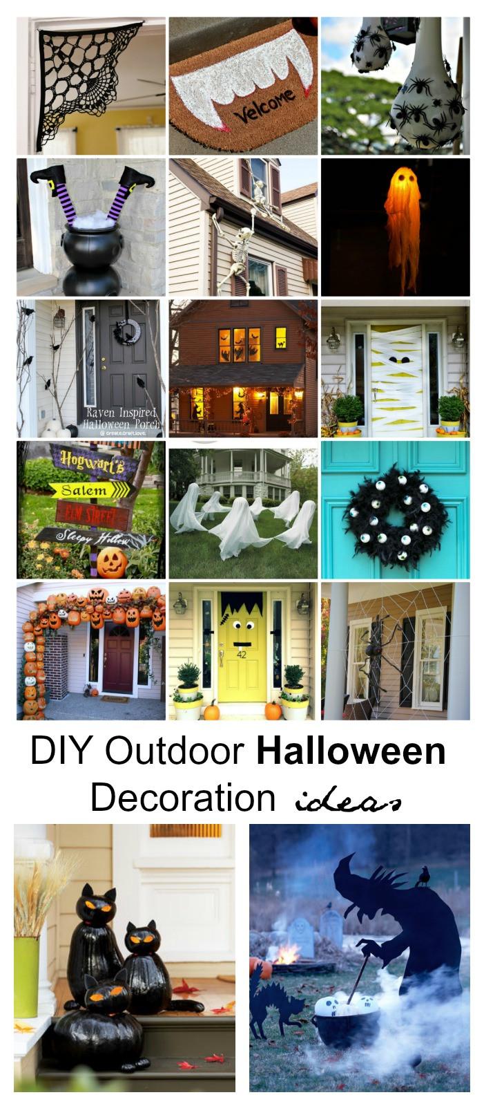 Halloween Decoration Outdoor  DIY Outdoor Halloween Decorations The Idea Room