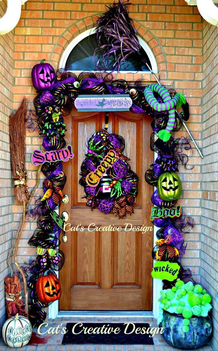 Halloween Decoration Outdoor  Best 25 Halloween garland ideas on Pinterest