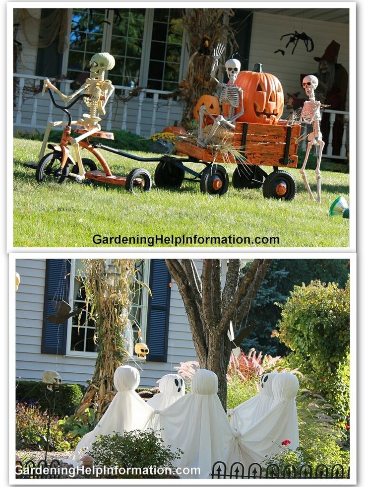 Halloween Decoration Outdoor  Hilarious Skeleton Decorations For Your Yard on Halloween