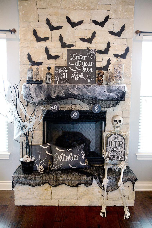 Halloween Fireplace Decorations  70 Great Halloween Mantel Decorating Ideas DigsDigs