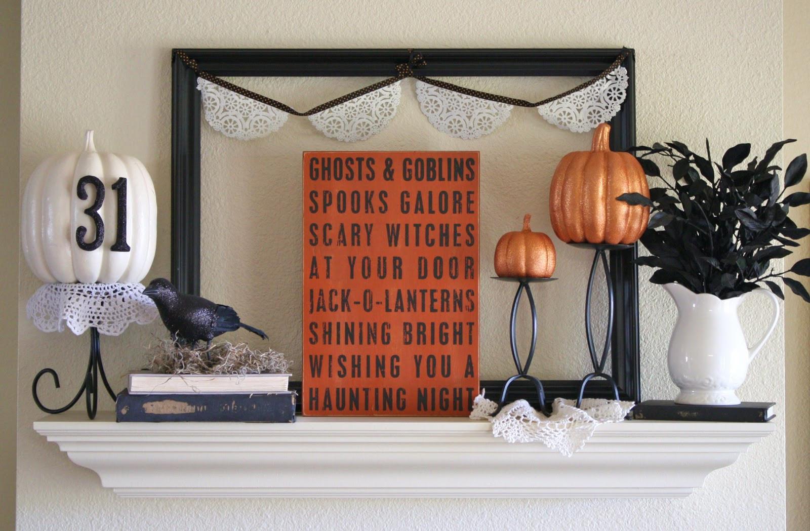 Halloween Fireplace Decorations  Twenty Halloween Mantel and more Decorating Ideas Fox