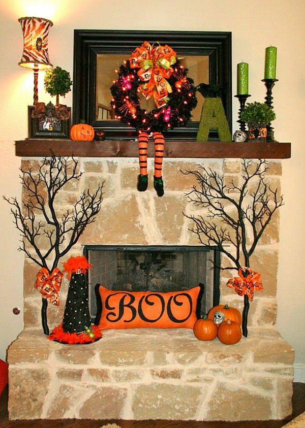 Halloween Fireplace Decorations  Halloween Decoration Crafts And Festive Mood Creation
