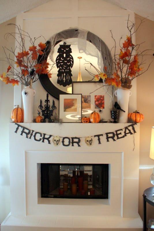 Halloween Fireplace Decorations  25 Halloween Mantels