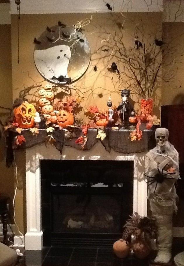 Halloween Fireplace Decorations  Halloween Decorations 16 Pics