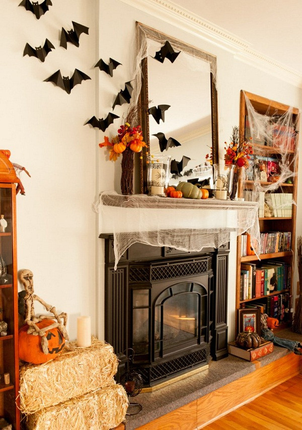 Halloween Fireplace Decorations  23 Best Ideas For Halloween Decorations Fireplace and Mantel