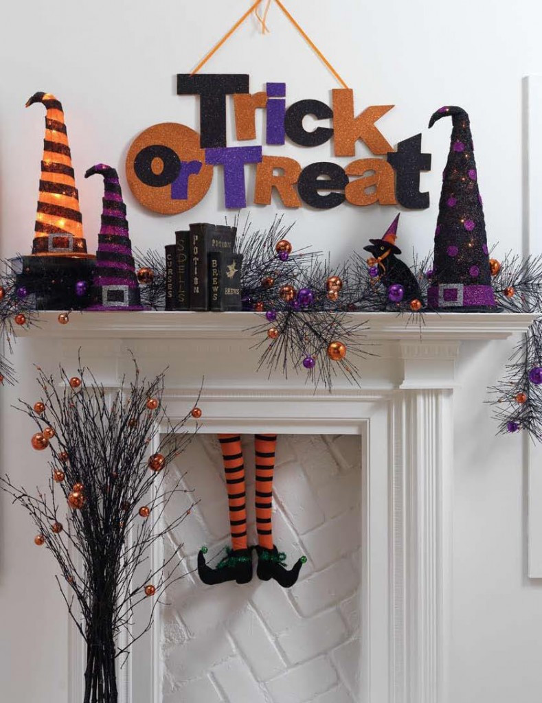 Halloween Fireplace Decorations  The Best Halloween Mantle Decor Ideas Our Thrifty Ideas
