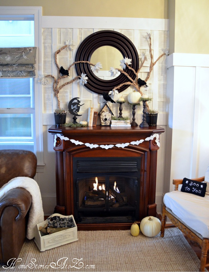 Halloween Fireplace Decorations  10 Halloween Mantels do it yourself decorating