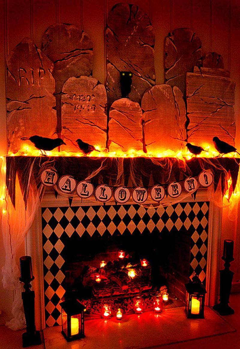 Halloween Fireplace Decorations  Spooktacular Shelfies