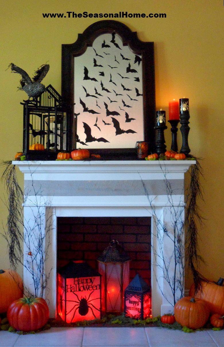 Halloween Fireplace Decorations  Spooky Halloween Fireplace The Seasonal Home