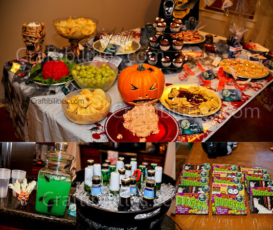 Halloween Food Ideas For Kids Party  KIDS Halloween Party decor food treats & Zombie Family