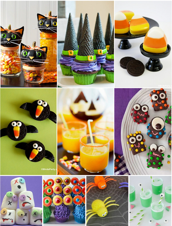 Halloween Food Ideas For Kids Party  PARTY BLOG by BirdsParty Printables Parties DIYCrafts