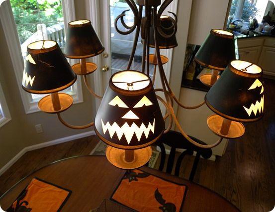 Halloween Lamp Shade Covers  17 Best ideas about Lantern Chandelier on Pinterest