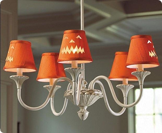 Halloween Lamp Shade Covers  Jack O Lantern Chandelier Shade Covers