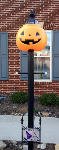 Halloween Lamp Shade Covers  Halloween thanksgiving pumpkin jack o lantern lamppost