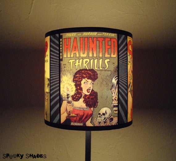 Halloween Lamp Shade Covers  ic Covers geek lamp shade lampshade ic book by