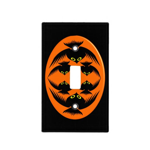 Halloween Lamp Shade Covers  Halloween Crows Light Switch Cover