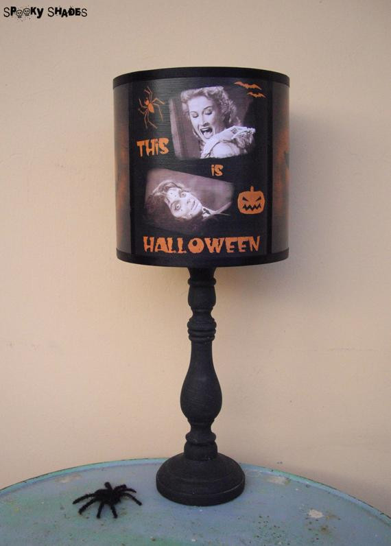 Halloween Lamp Shade Covers  Halloween Table Lamps Use Them All Year Round