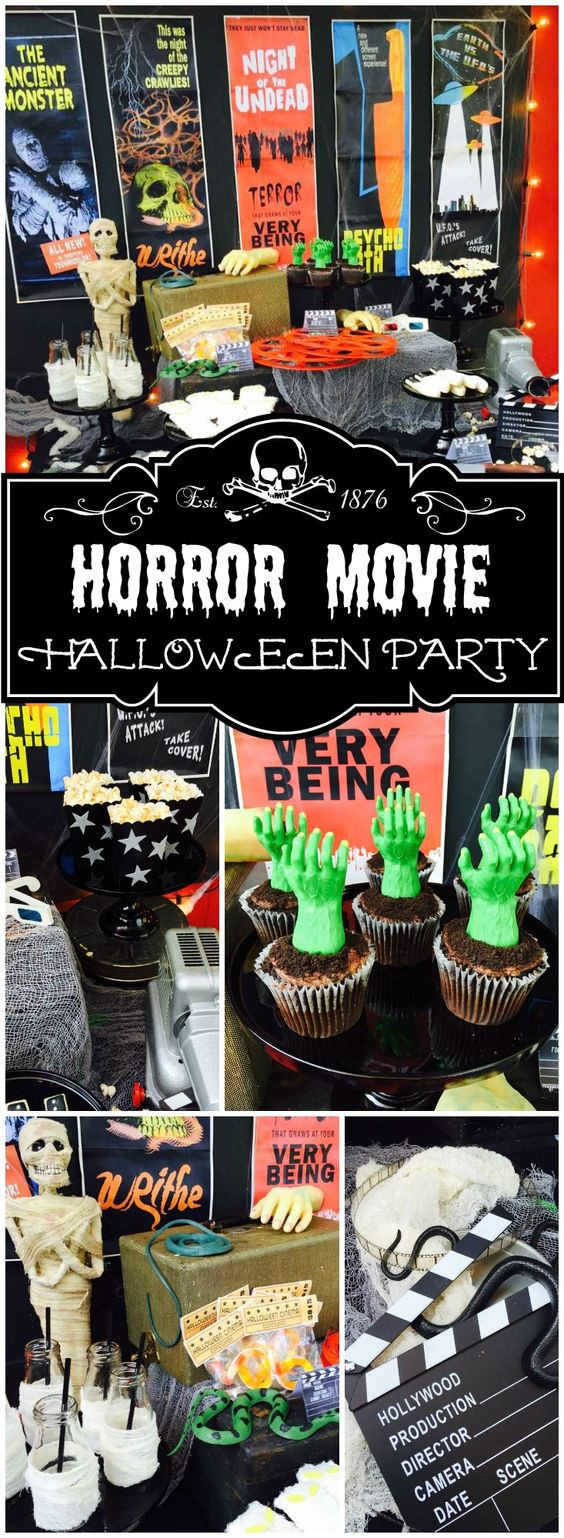 Halloween Movie Party Ideas  Vintage horror Horror movies and Horror on Pinterest