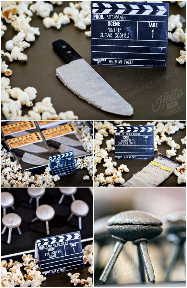 Halloween Movie Party Ideas  Vintage Horror Movie Halloween Party Spaceships and