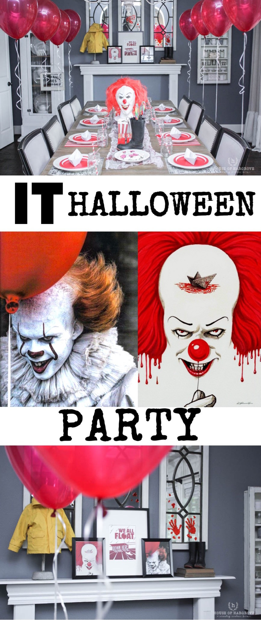 Halloween Movie Party Ideas  IT Movie Halloween Party Scary IT clown carnival decor