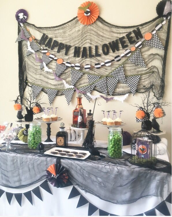 Halloween Party Decoration Ideas Adults  Halloween party table ideas Halloween candy table Cheese