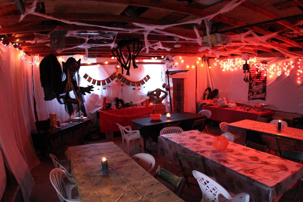 Halloween Party Decorations Ideas For Adults  Garage halloween decoration daveynin