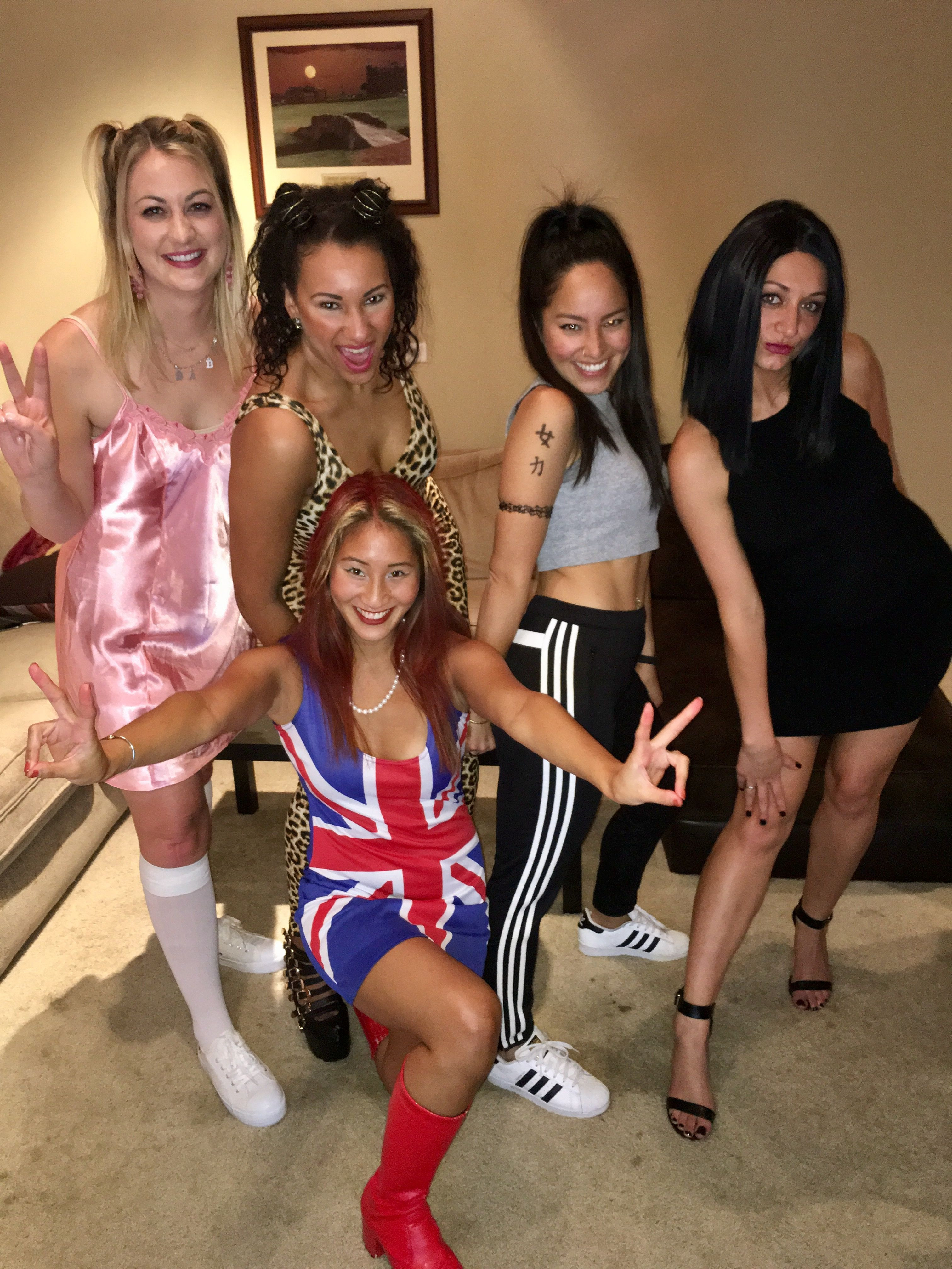 Halloween Party Ideas For Girls  Spice girls group Halloween costume Party Time