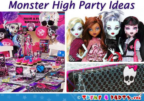 Halloween Party Ideas For Girls  Monster High Party Ideas Halloween & Birthday