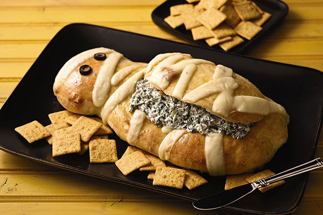 Halloween Party Menu Ideas For Adults  Halloween Mummy Spinach Dip Kraft Recipes