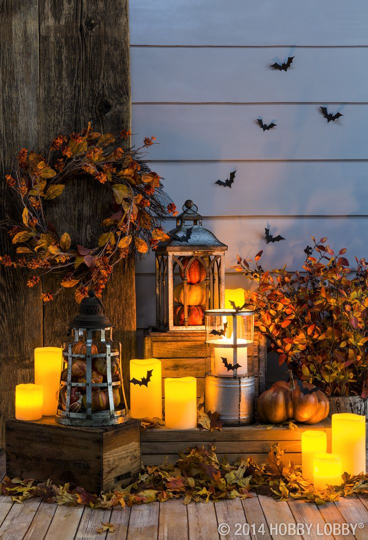 Halloween Porch Light  Light up your front porch with fall festive lanterns