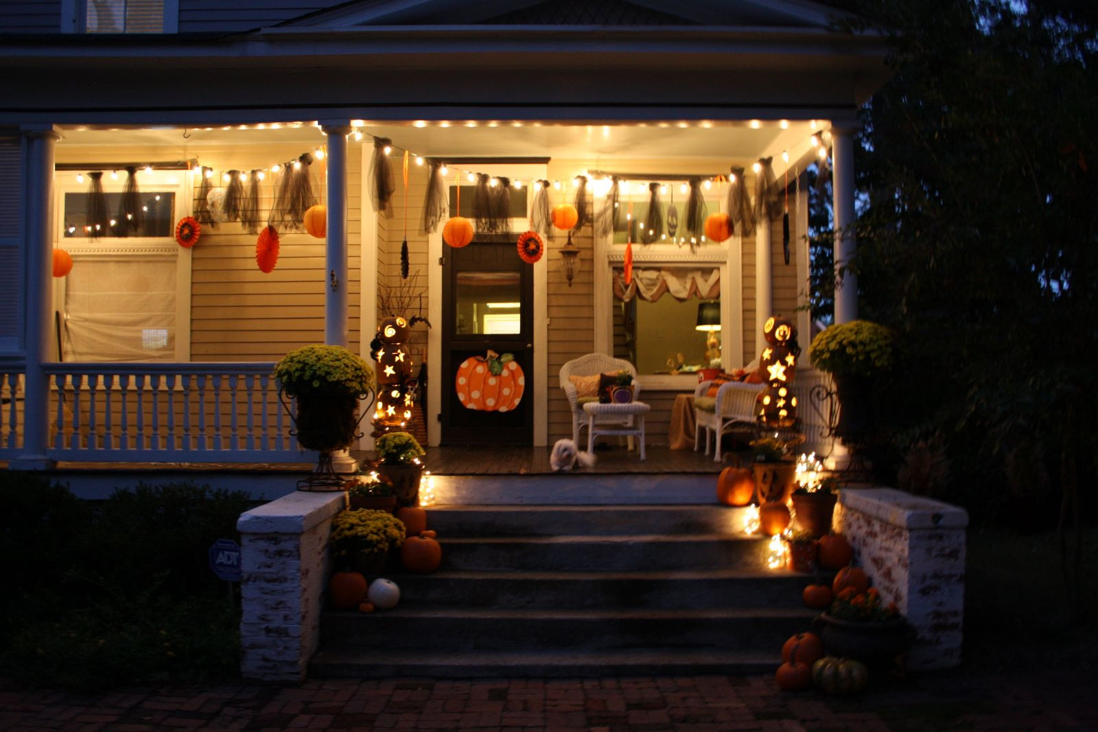 Halloween Porch Light  Our Southern Nest Whimsical Halloween Decorations