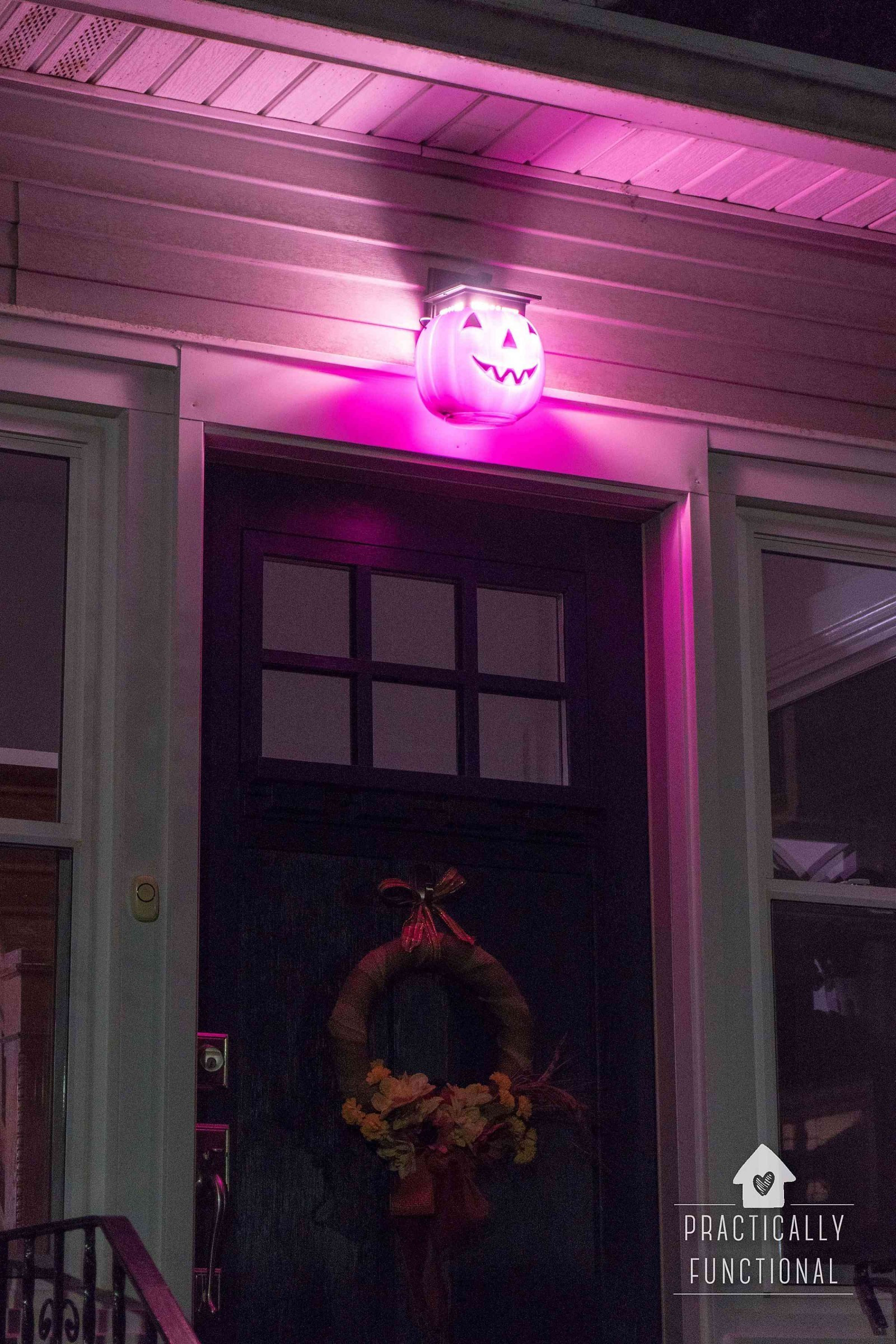 Halloween Porch Light  13 Easy DIY Halloween Decoration Ideas Dishes and Dust