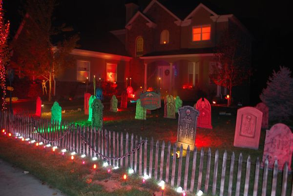 Halloween Porch Light  Halloween Porch And Entryway Ideas From Subtle To Scary