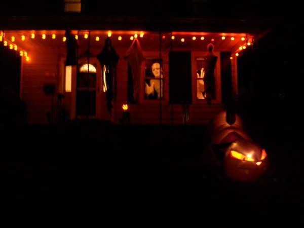 Halloween Porch Light  19 Ideas for Scary Halloween Horror Nights Lights and Effects