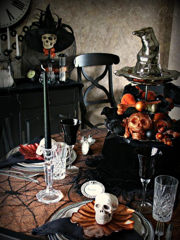 Halloween Table Centerpieces  Modern Furniture Spooky Halloween Table Settings and